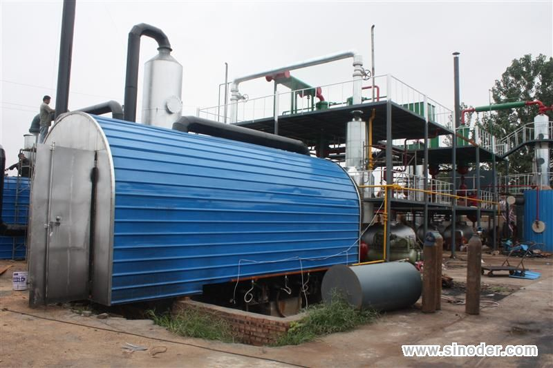 Pyrolysis Plant for Waste Tyre, Plastic,Rubber - Case and